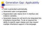 generation gap applicability