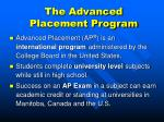 the advanced placement program