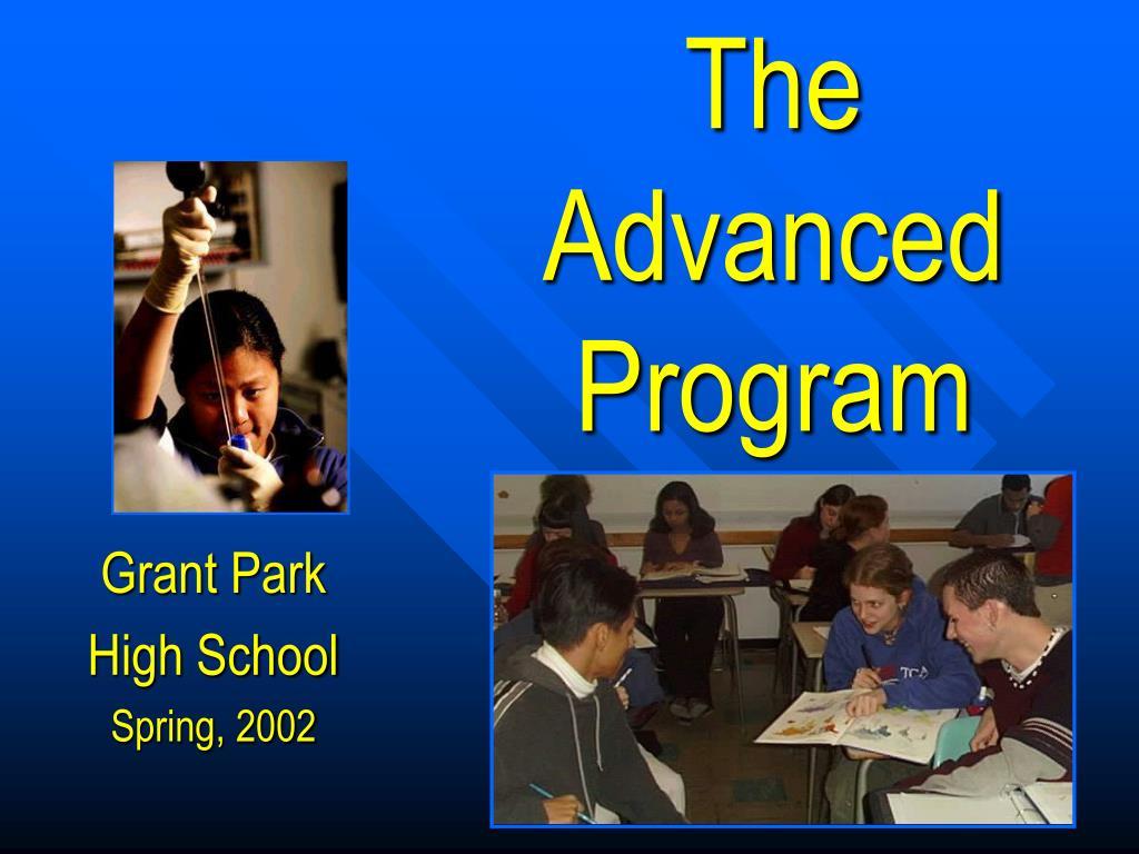 the advanced program l.