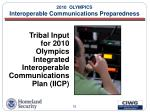 2010 olympics interoperable communications preparedness32