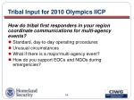 tribal input for 2010 olympics iicp34