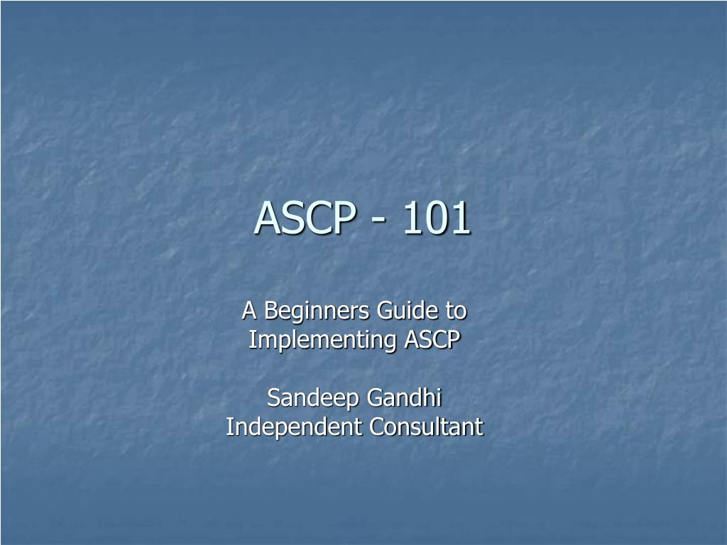 ascp 101 l.