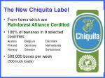 the new chiquita label