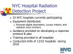 nyc hospital radiation detection project