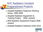 nyc radiation incident preparedness projects