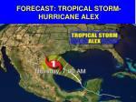 forecast tropical storm hurricane alex