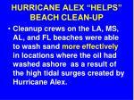 hurricane alex helps beach clean up