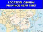 location qinghai province near tibet