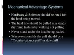mechanical advantage systems12