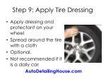 step 9 apply tire dressing