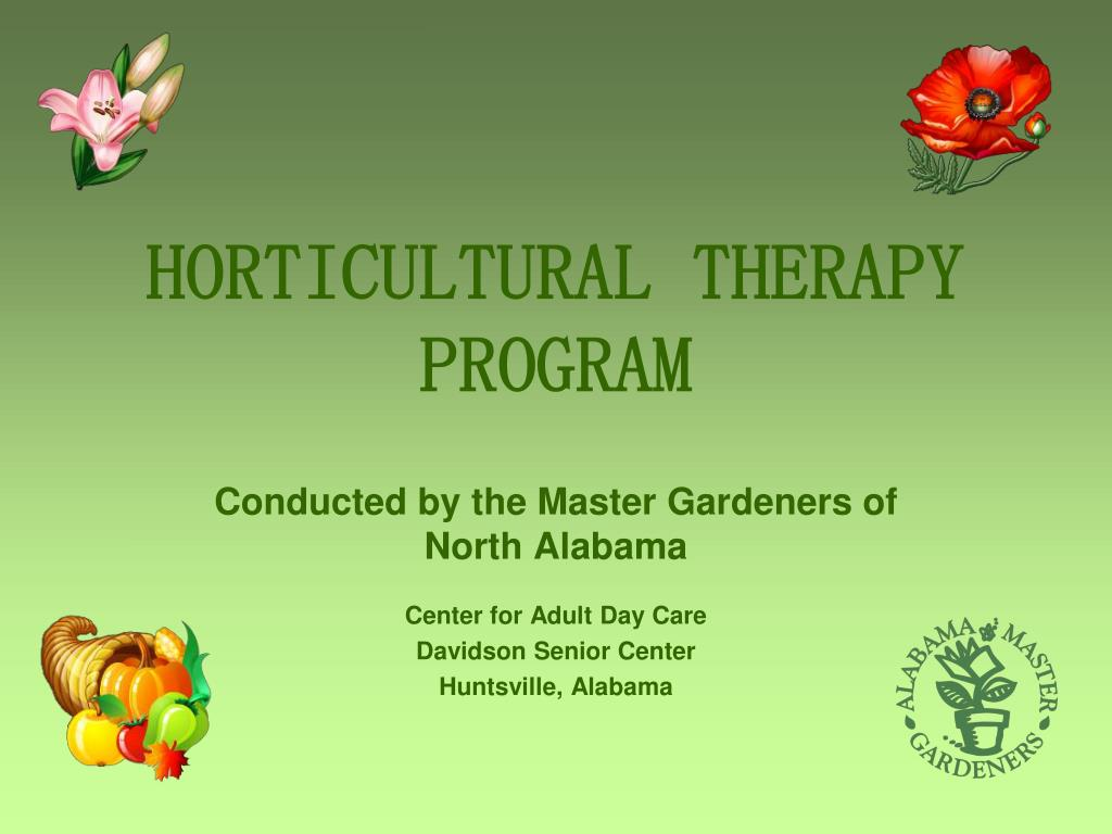horticultural therapy program l.