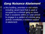 gang nuisance abatement