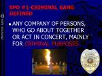 spo 1 criminal gang defined