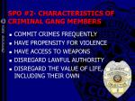 spo 2 characteristics of criminal gang members