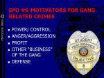 spo 6 motivators for gang related crimes