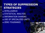 types of suppression strategies