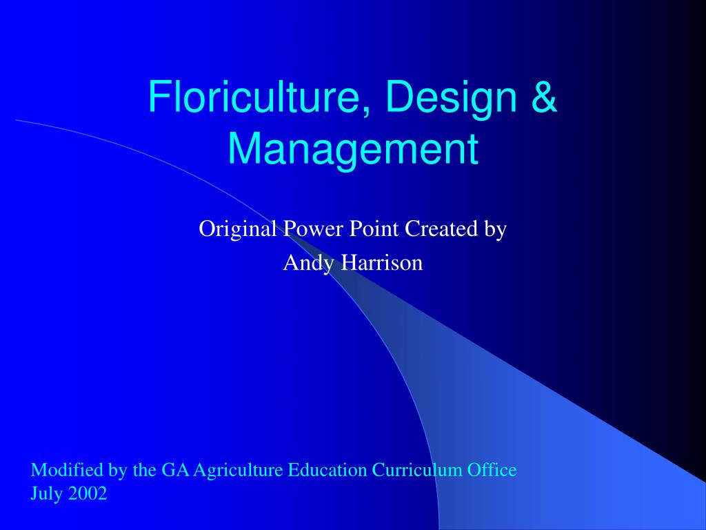 floriculture design management l.
