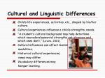 cultural and linguistic differences