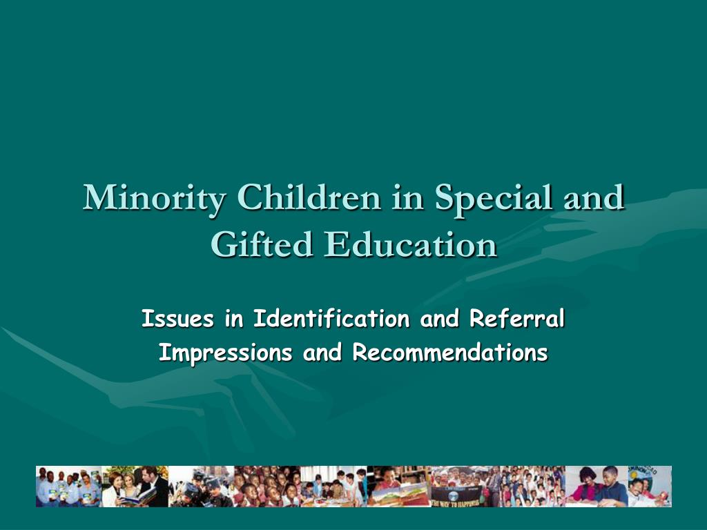 minority children in special and gifted education l.