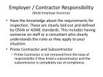 employer contractor responsibility multi employer doctrine