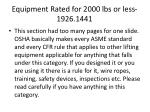 equipment rated for 2000 lbs or less 1926 1441