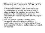 warning to employer contractor