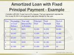 amortized loan with fixed principal payment example49