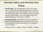 annuity value and annuity due value