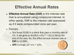 effective annual rates