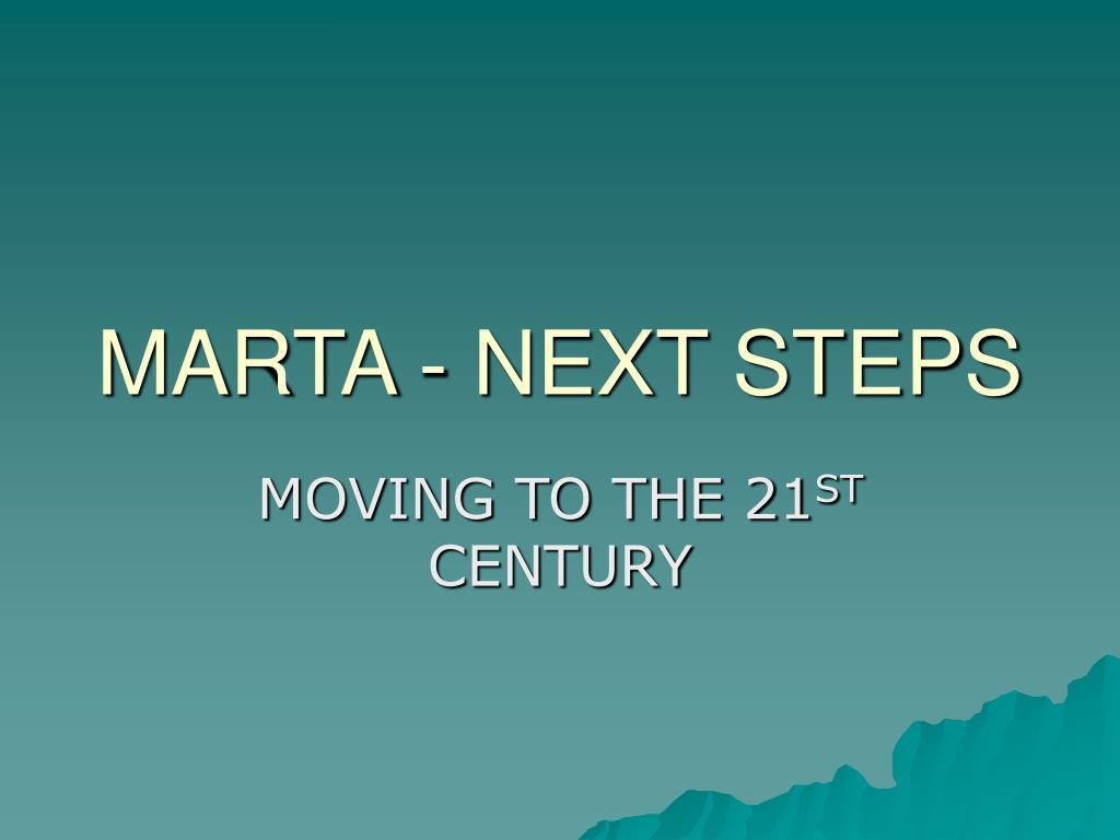marta next steps l.