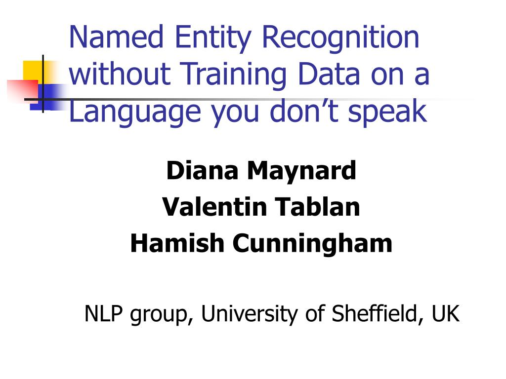 named entity recognition without training data on a language you don t speak l.
