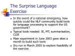 the surprise language exercise