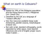 what on earth is cebuano