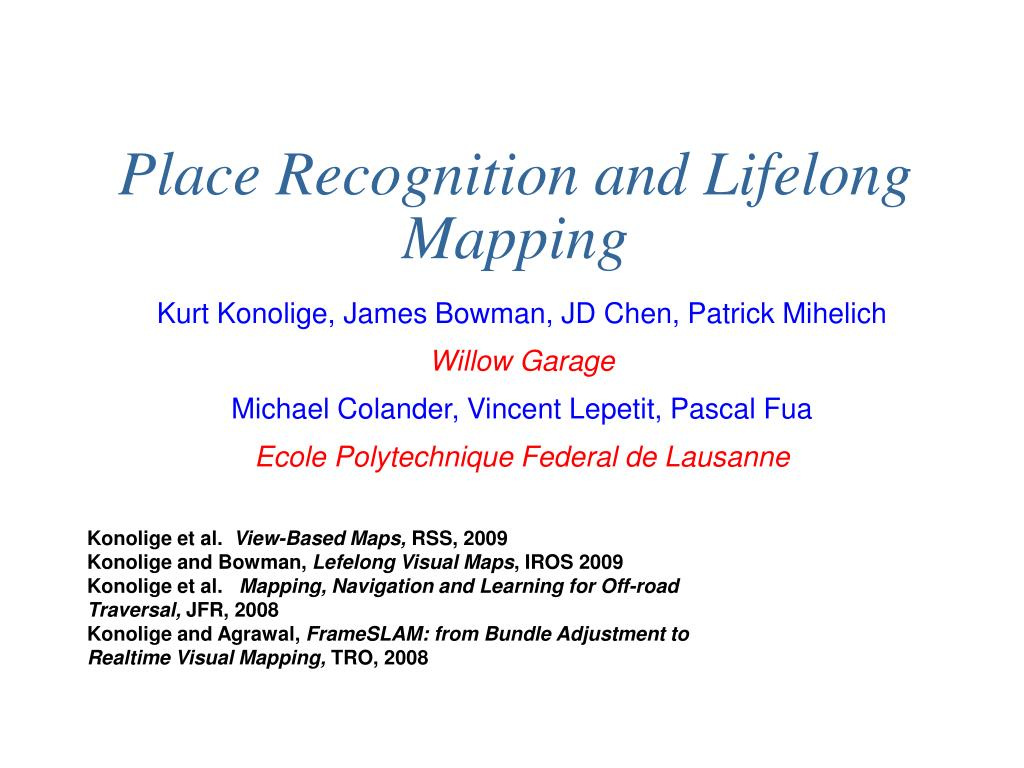 place recognition and lifelong mapping l.