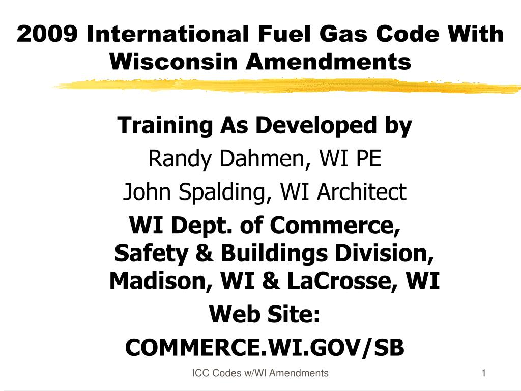 2009 international fuel gas code with wisconsin amendments l.