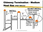 chimney termination medium heat gas ifgc 503 5 4