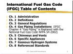 international fuel gas code ifgc table of contents