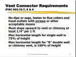 vent connector requirements ifgc 503 10 7 8 9