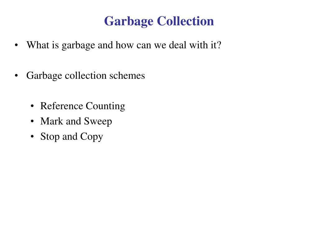 garbage collection l.