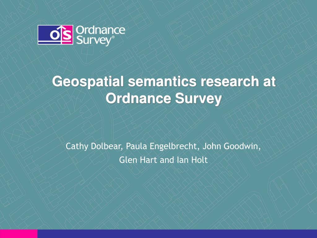 geospatial semantics research at ordnance survey l.