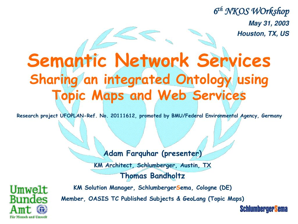 semantic network services sharing an integrated ontology using topic maps and web services l.