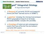 the gein integrated ontology