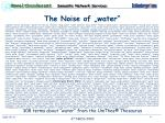 the noise of water