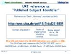 uri reference as published subject identifier