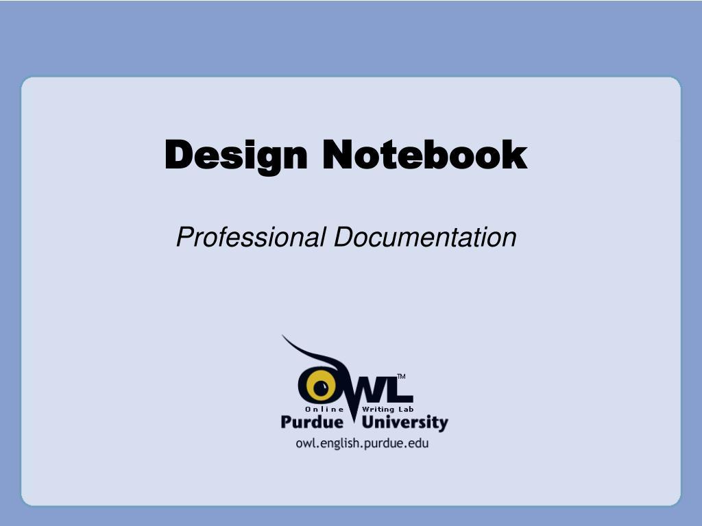 design notebook l.