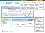 save search history