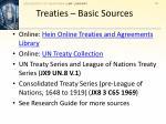 treaties basic sources