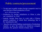 public contracts procurement