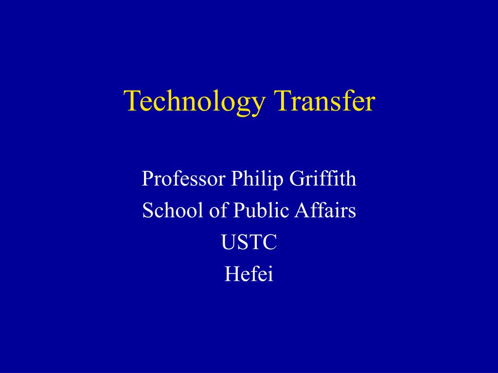 technology transfer l.