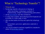 what is technology transfer5